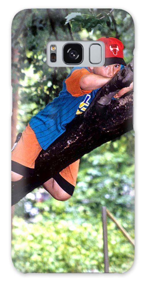 Boy Climbing Tree Galaxy S8 Case featuring the photograph Don't Forget To Dream by Laurie Paci