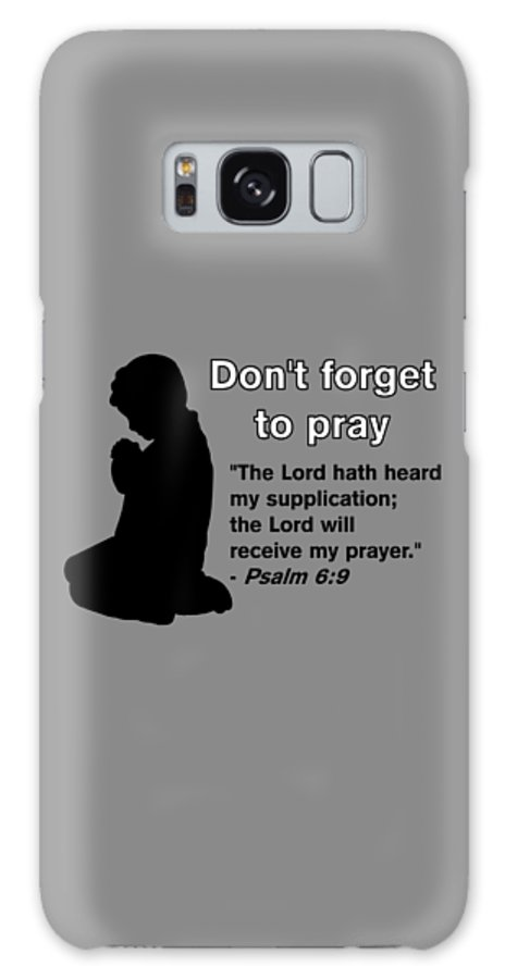 Praying Child Galaxy Case featuring the drawing Don't Forget to Pray Praying Child by Pharris Art