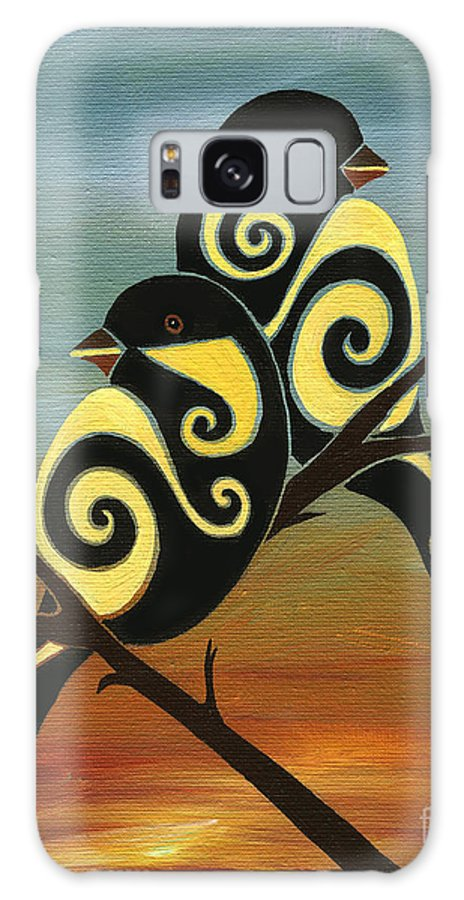 Chickadee Galaxy S8 Case featuring the painting Don't Keep Your Music Inside II by Barbara Rush