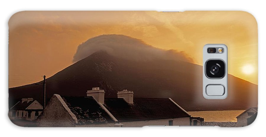 Architecture Galaxy S8 Case featuring the photograph Doogort And Slievemore, Achill Island by The Irish Image Collection