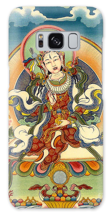 Thangka Galaxy S8 Case featuring the painting Dorje Yudronma by Sergey Noskov