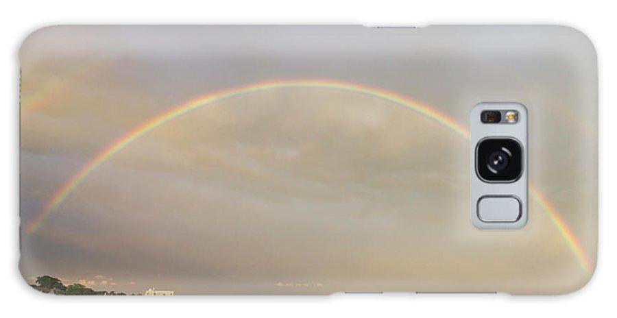 Double Rainbowm Galaxy S8 Case featuring the photograph Double Rainbow Over Charleston Harbor by Dustin K Ryan