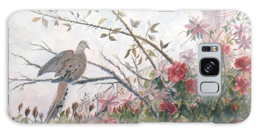 Dove; Roses Galaxy S8 Case featuring the painting Dove And Roses by Ben Kiger