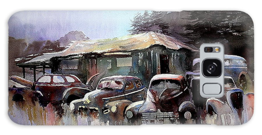 Cars House Galaxy S8 Case featuring the painting Down In The Dell by Ron Morrison