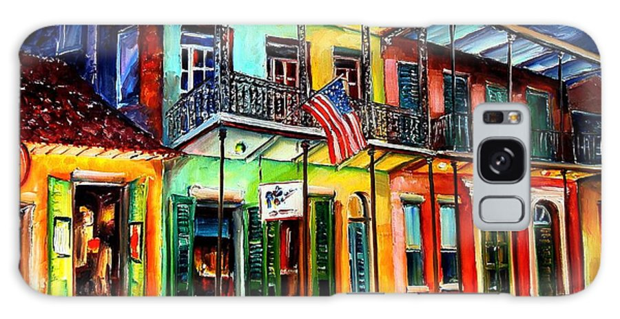 New Orleans Galaxy S8 Case featuring the painting Down On Bourbon Street by Diane Millsap