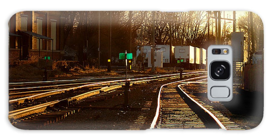 Landscape Galaxy Case featuring the photograph Down The Right Track 2 by Steve Karol