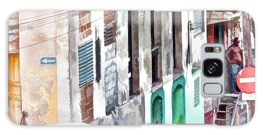 Cuba Galaxy S8 Case featuring the photograph Down The Street by Claude LeTien