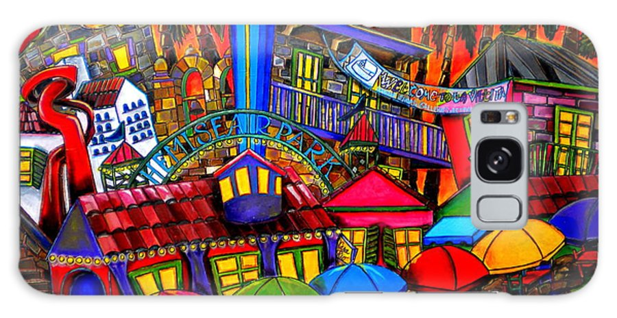 San Antonio Galaxy S8 Case featuring the painting Downtown Attractions by Patti Schermerhorn