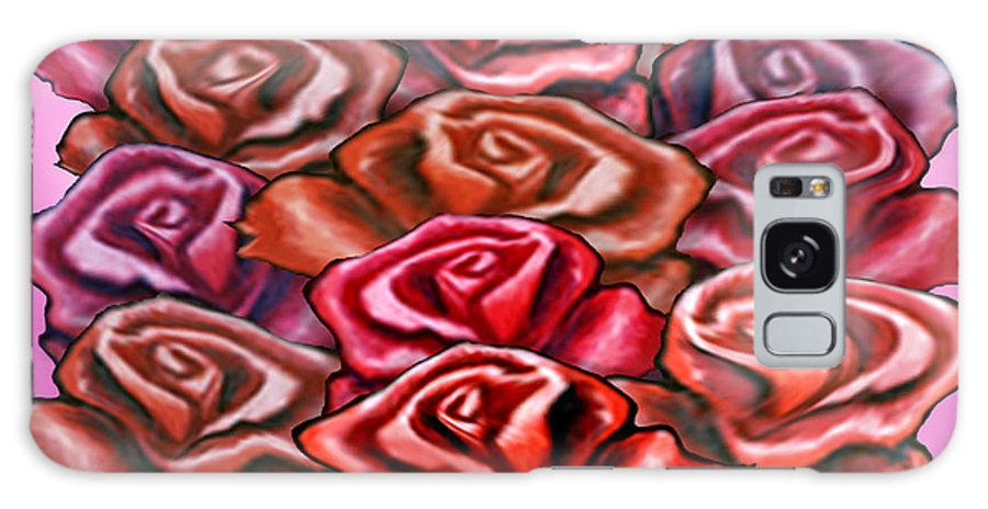 Rose Galaxy S8 Case featuring the painting Dozen Roses by Kevin Middleton