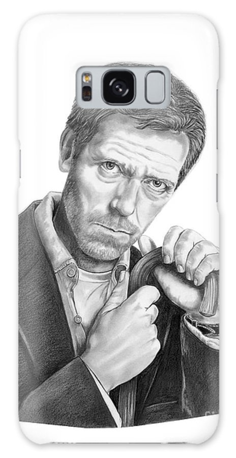 Drawing Galaxy S8 Case featuring the drawing Dr. House Hugh Laurie by Murphy Elliott