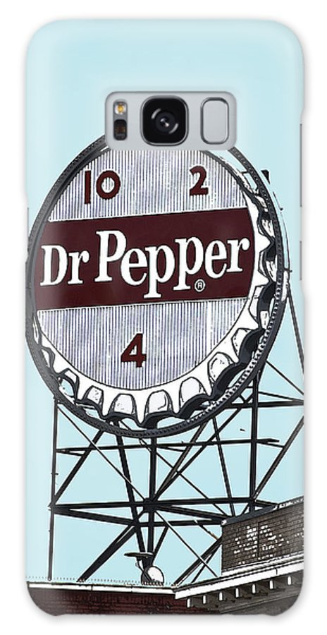 Dr Galaxy S8 Case featuring the photograph Dr Pepper Landmark Sign Roanoke Virginia by Teresa Mucha