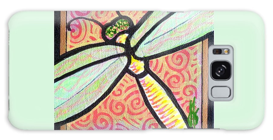 Dragonfly Galaxy Case featuring the painting Dragonfly Fantasy 3 by Jim Harris