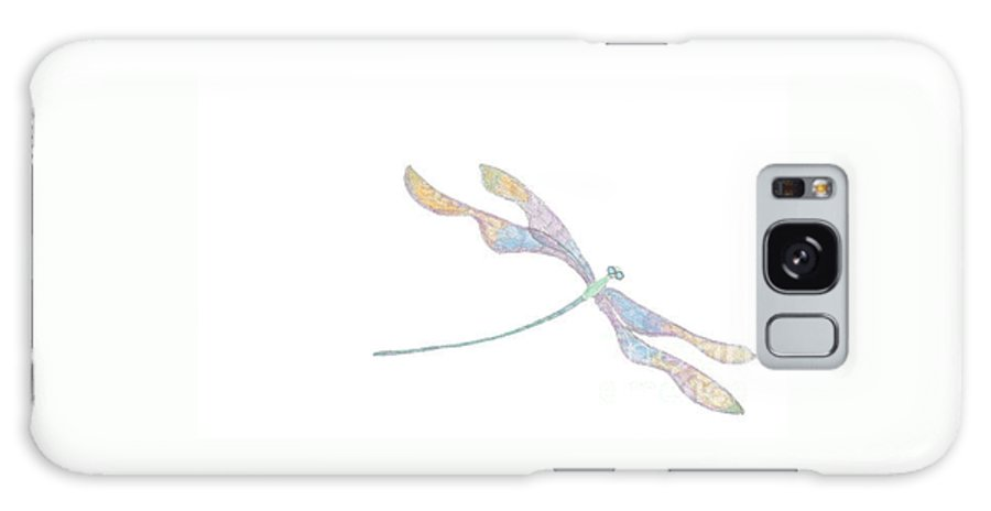 Dragonfly Galaxy S8 Case featuring the digital art Dragonfly by Heather Hennick
