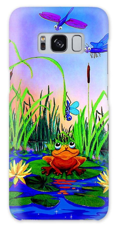 Preschool Wall Mural Galaxy S8 Case featuring the painting Dragonfly Pond by Hanne Lore Koehler
