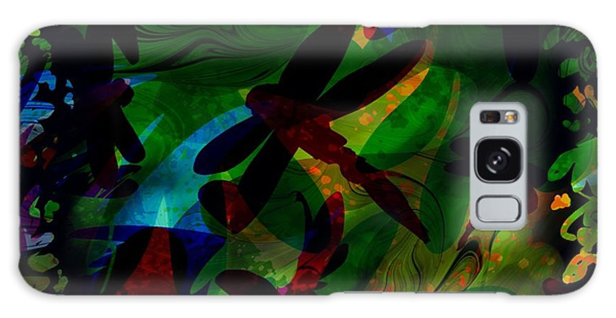 Abstract Galaxy S8 Case featuring the digital art Dragonfly by Rachel Christine Nowicki