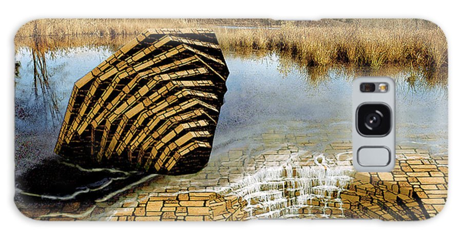 Drain Galaxy Case featuring the digital art Drain - Mendon Ponds by Peter J Sucy