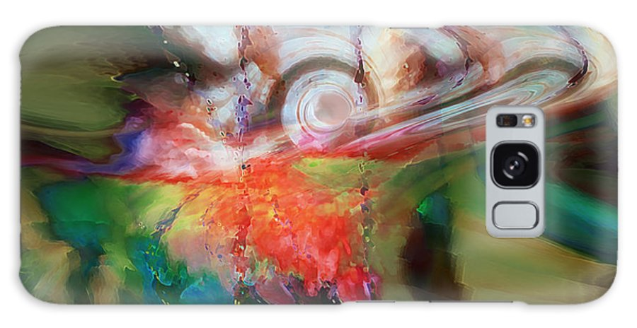 Abstract Art Galaxy S8 Case featuring the digital art Drama by Linda Sannuti