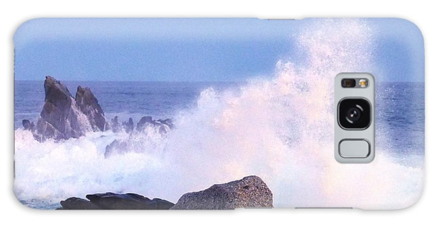 Waves Galaxy S8 Case featuring the photograph Drama Of The Rocky Shore by Barbie Corbett-Newmin