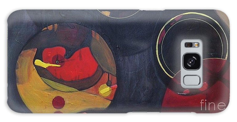 Abstract Galaxy S8 Case featuring the painting Drama Resolved 1 by Marlene Burns