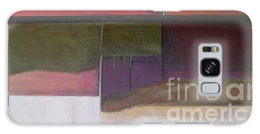Abstract Galaxy S8 Case featuring the painting Drama Too Diptych 1 by Marlene Burns