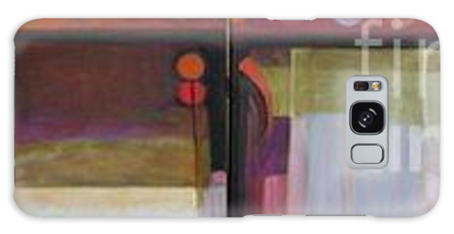Abstract Galaxy S8 Case featuring the painting Drama Too Diptych by Marlene Burns