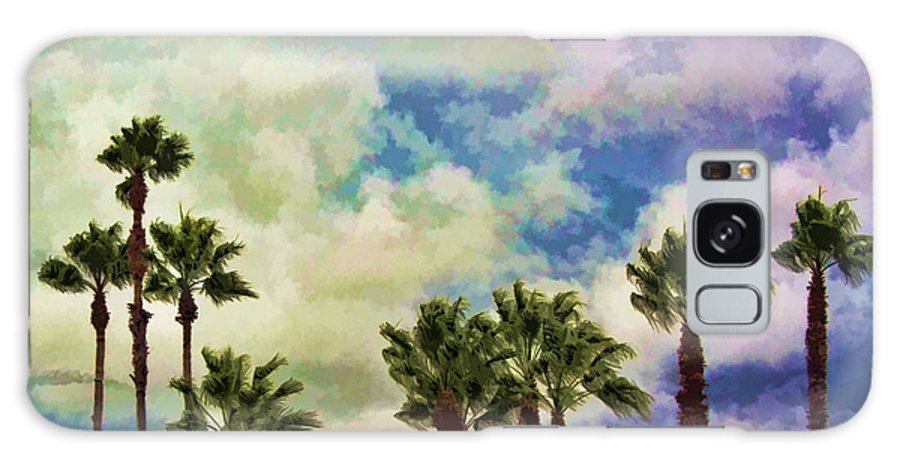 Palm Galaxy S8 Case featuring the photograph Dramatic Palms by Arline Wagner