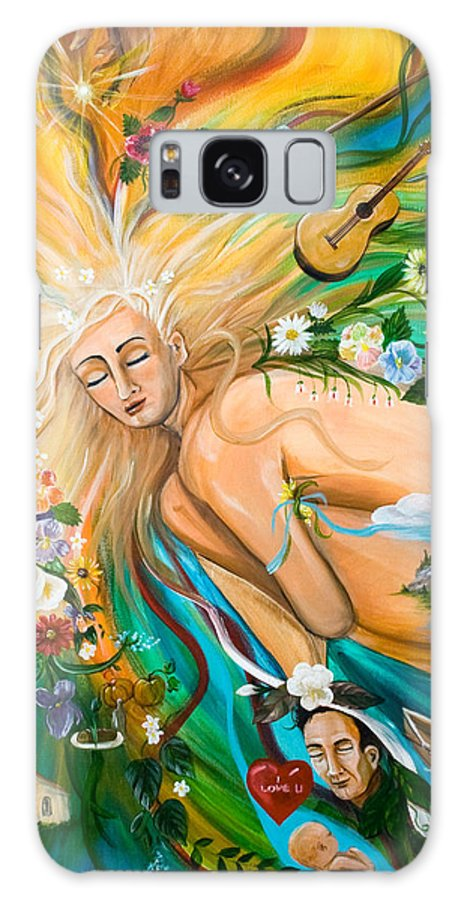 Women Galaxy S8 Case featuring the painting Dream Deep by Dorothy Riley