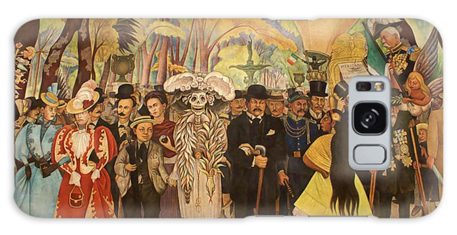 Mexico City Galaxy S8 Case featuring the photograph Dream In The Alameda Diego Rivera Mexico City by John Mitchell