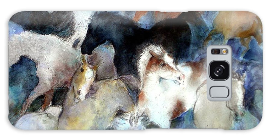 Horses Galaxy S8 Case featuring the painting Dream Of Wild Horses by Christie Martin