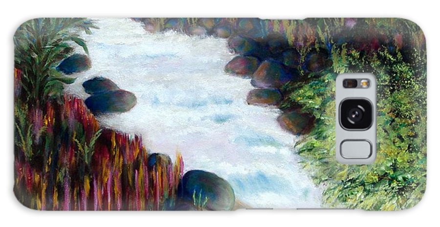 River Galaxy S8 Case featuring the painting Dream River by Laurie Morgan