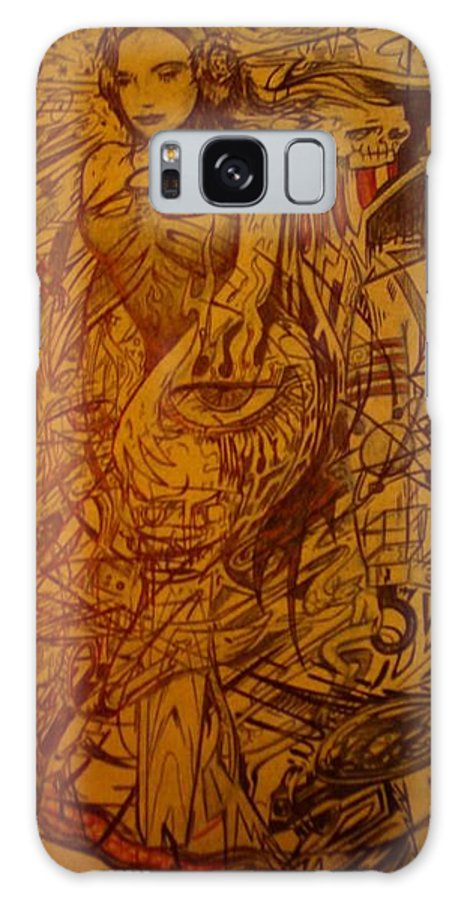 Chaos Galaxy Case featuring the drawing Dream by Will Le Beouf