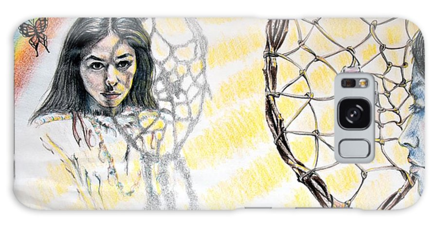 Carmen Moore Galaxy Case featuring the drawing Dreamcatcher by Susan Moore