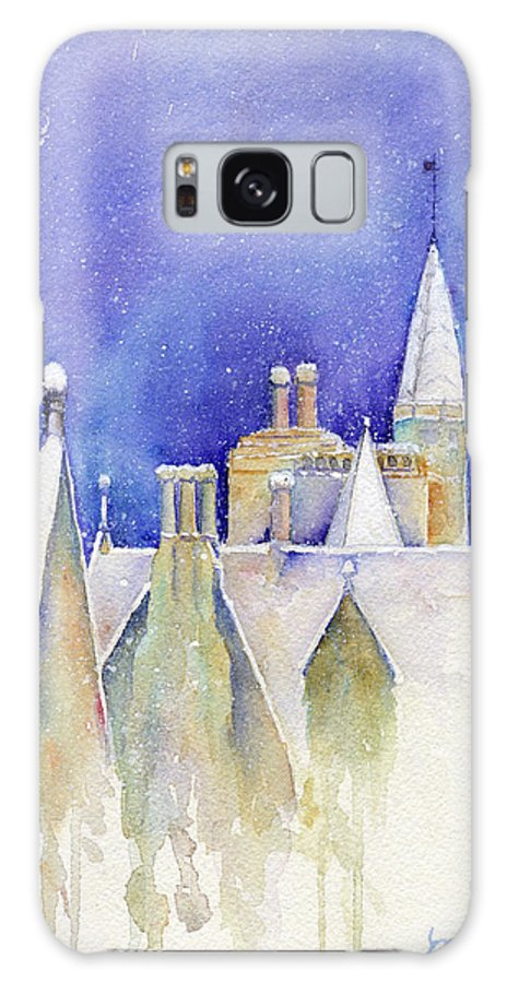 Dreaming Galaxy S8 Case featuring the painting Dreaming Spires by Marsha Karle