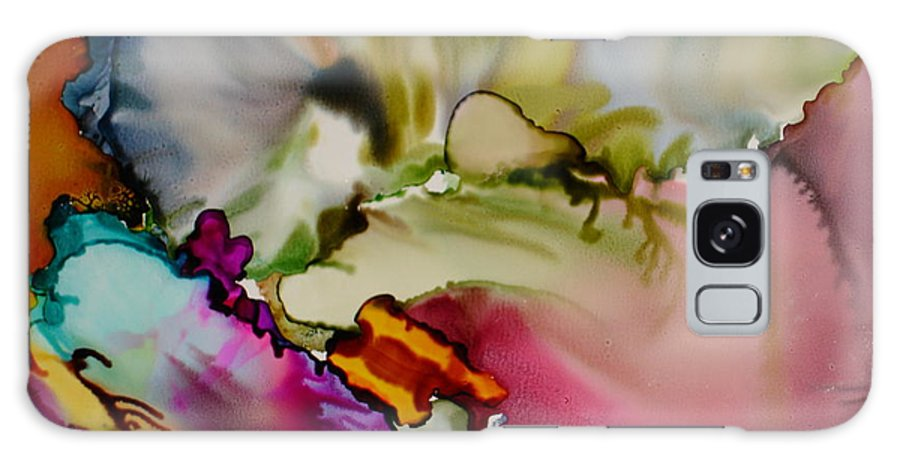 Abstract Galaxy S8 Case featuring the painting Dreaming by Susan Kubes