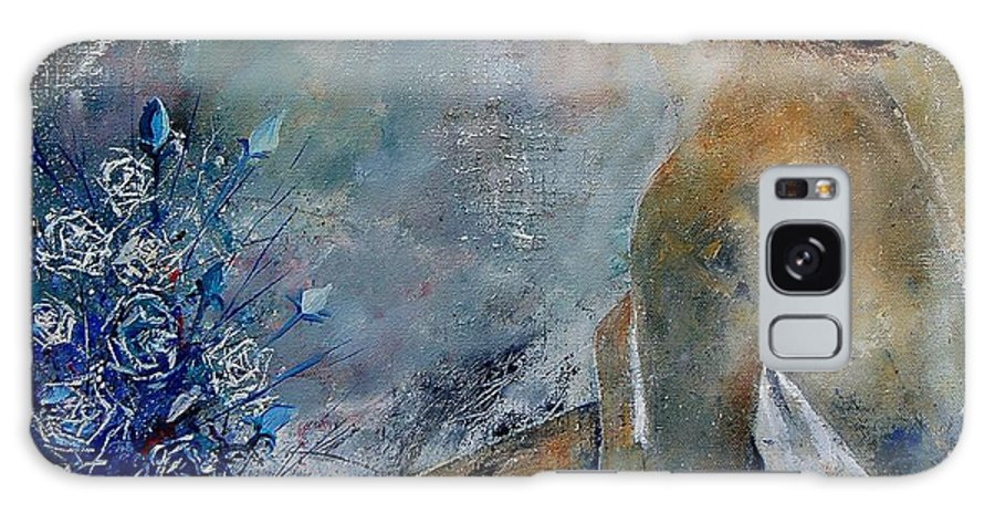 Girl Galaxy Case featuring the painting Dreaming Young Girl by Pol Ledent