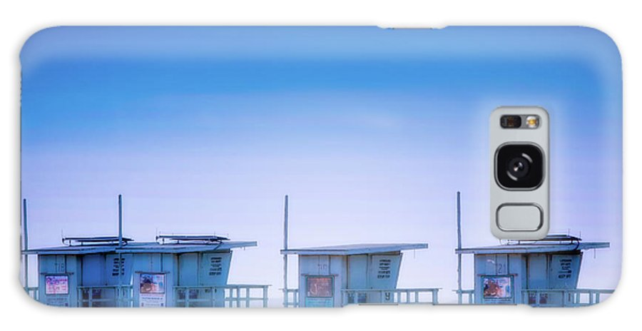 Santa Monica Galaxy S8 Case featuring the photograph Dreamy Santa Monica Beach by Doug Sturgess