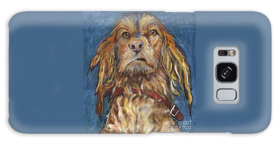 Golden Retriever Painting Galaxy S8 Case featuring the pastel Drenched by Pat Saunders-White