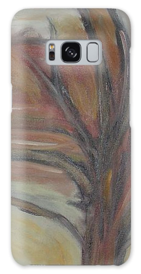 Woods Tree Abstract Original Painting Winter Galaxy Case featuring the painting Drift by Leila Atkinson
