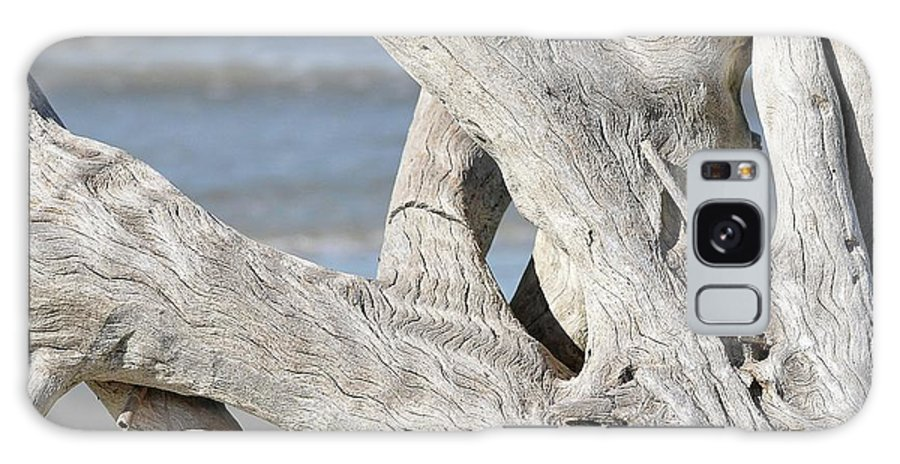 Driftwood Galaxy S8 Case featuring the photograph Driftwood Detail by Al Powell Photography USA