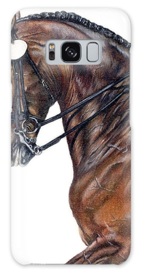 Horse Galaxy S8 Case featuring the drawing Driven by Kristen Wesch