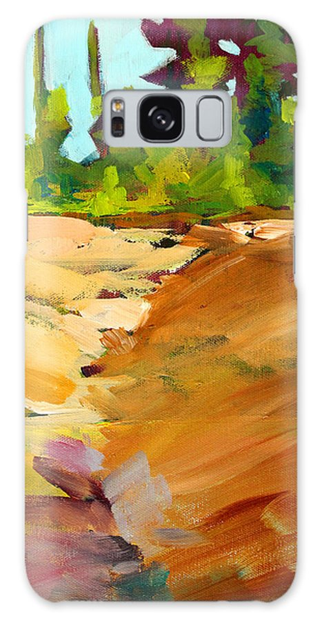 Oregon Landscape Galaxy S8 Case featuring the painting Dry Creek by Nancy Merkle