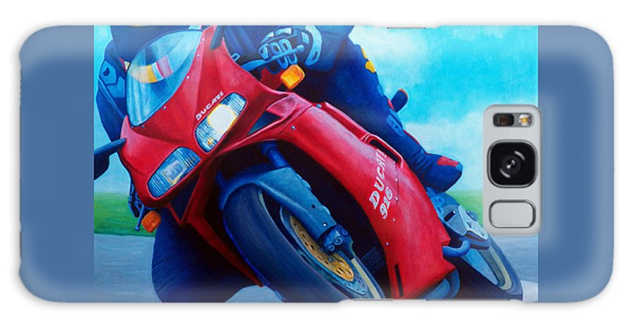 Motorcycle Galaxy S8 Case featuring the painting Ducati 916 by Brian Commerford