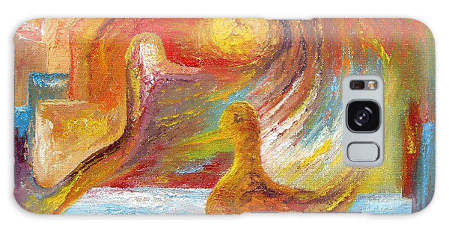 Duck Galaxy Case featuring the painting Duck The Alchemist by Karina Ishkhanova