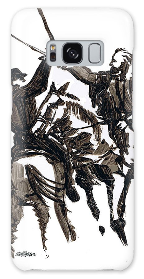 Civil War Galaxy S8 Case featuring the drawing Dueling Sabres by Seth Weaver