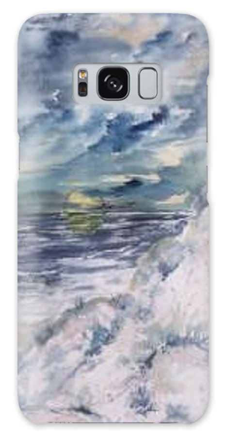Seascape Galaxy S8 Case featuring the painting Dunes 2 seascape painting poster print by Derek Mccrea