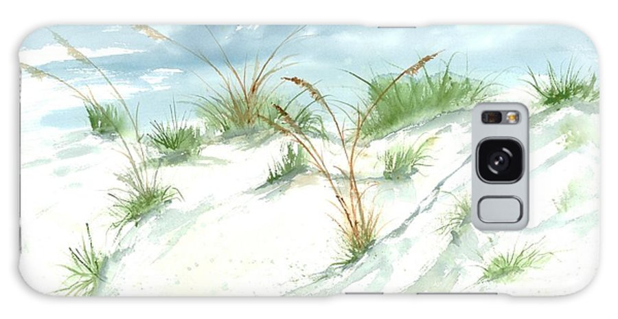 Beach Galaxy S8 Case featuring the painting Dunes 3 Seascape Beach Painting Print by Derek Mccrea