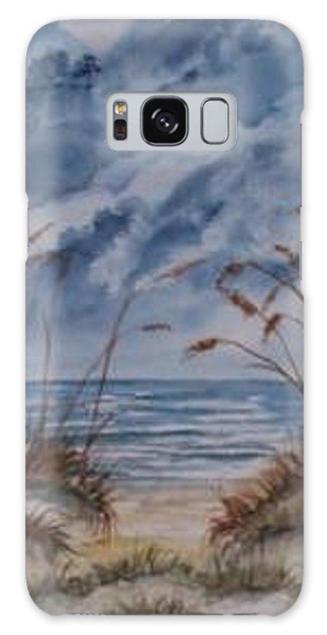 Watercolor Landscape Painting Seascape Beach Galaxy S8 Case featuring the painting DUNES seascape fine art poster print seascape by Derek Mccrea