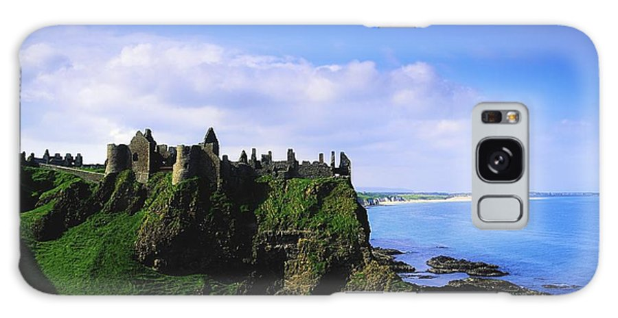 Archeology Galaxy S8 Case featuring the photograph Dunluce Castle, Co Antrim, Irish, 13th by The Irish Image Collection