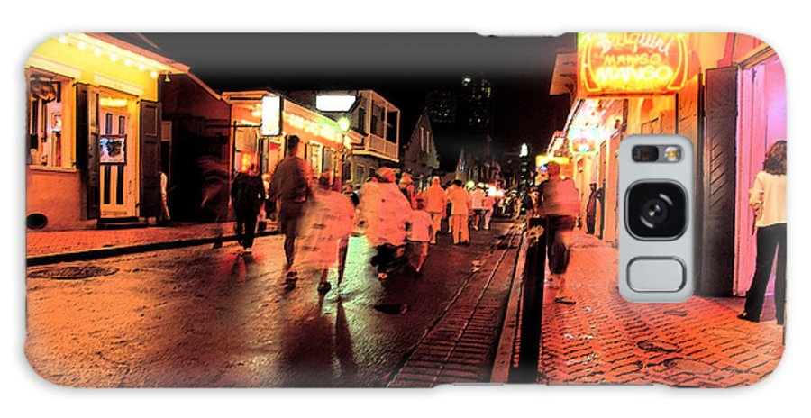 Rain-soaked Street Galaxy S8 Case featuring the digital art Dusk On Bourbon Street by Thomas R Fletcher
