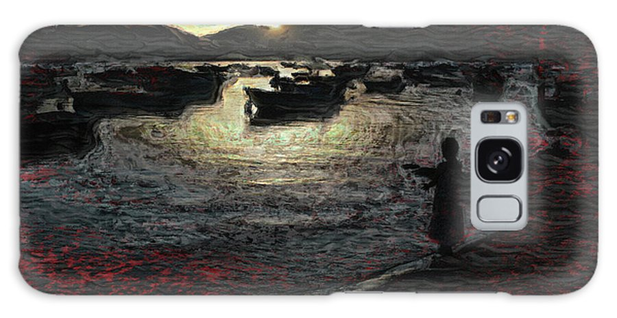 Dusk Galaxy S8 Case featuring the photograph Dusky Harbor A La Van Gogh II by Dee Flouton